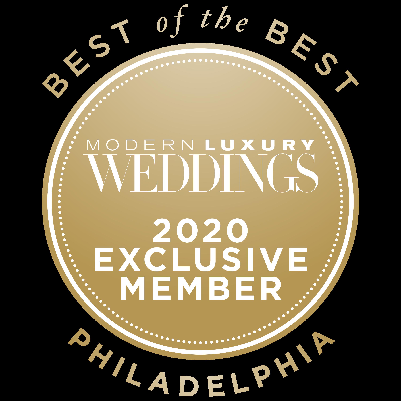 BEST OF THE BEST / Philadelphia / MODERN LUXURY WEDDINGS / 2020 Exclusive Member  - Icon